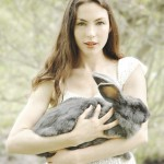 Rebecca Rebouche and her Gray Bunny